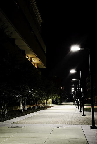dark alley night photography