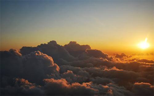 sunrise aerial photography