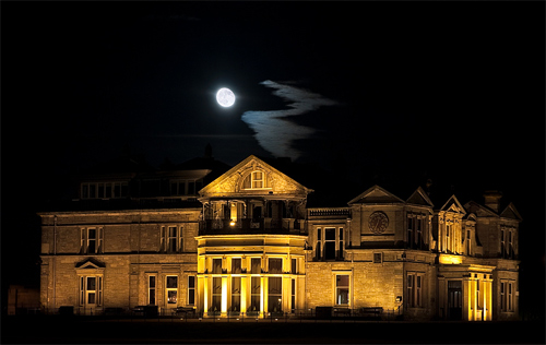 mansion night photography