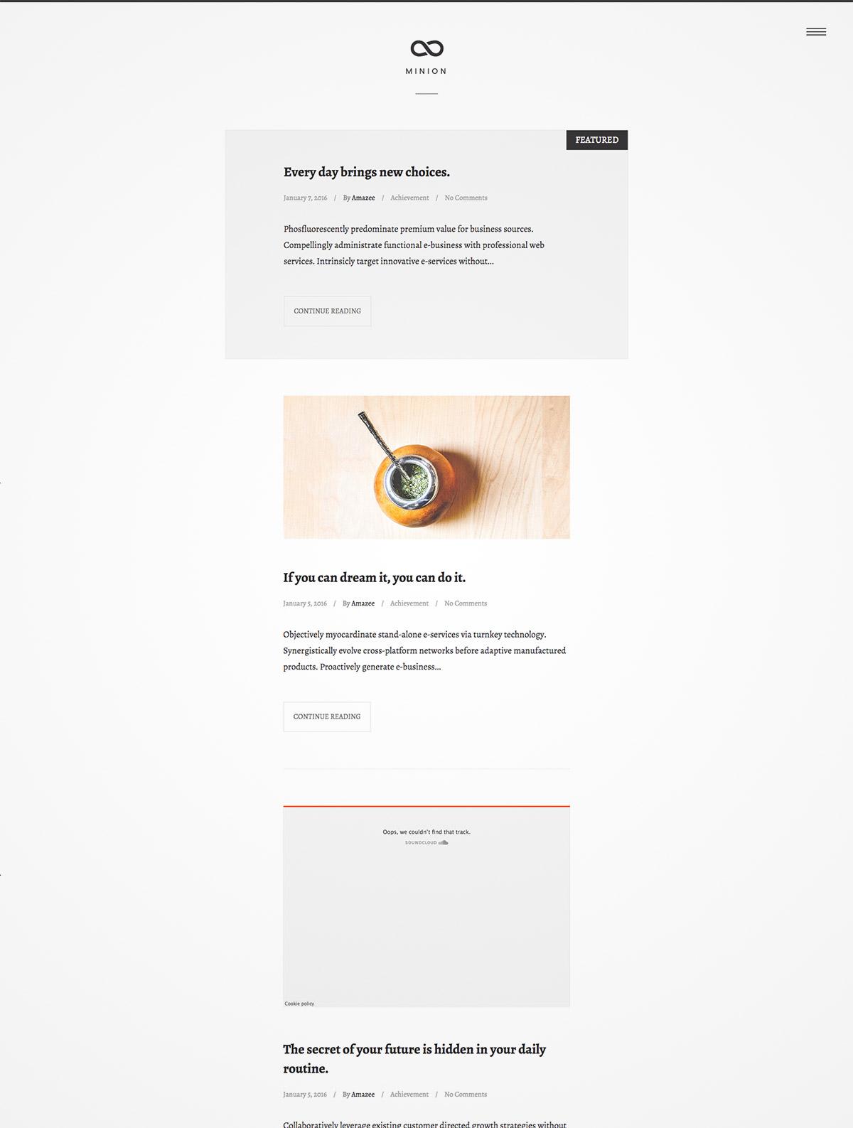 minimal design theme