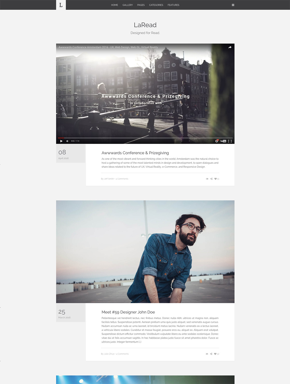 big image wordpress themes