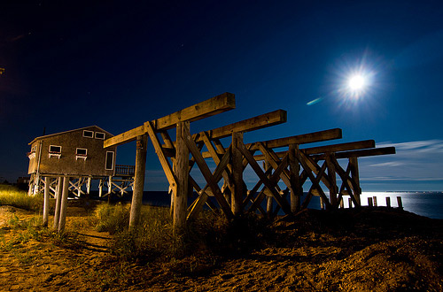 stilts night photography