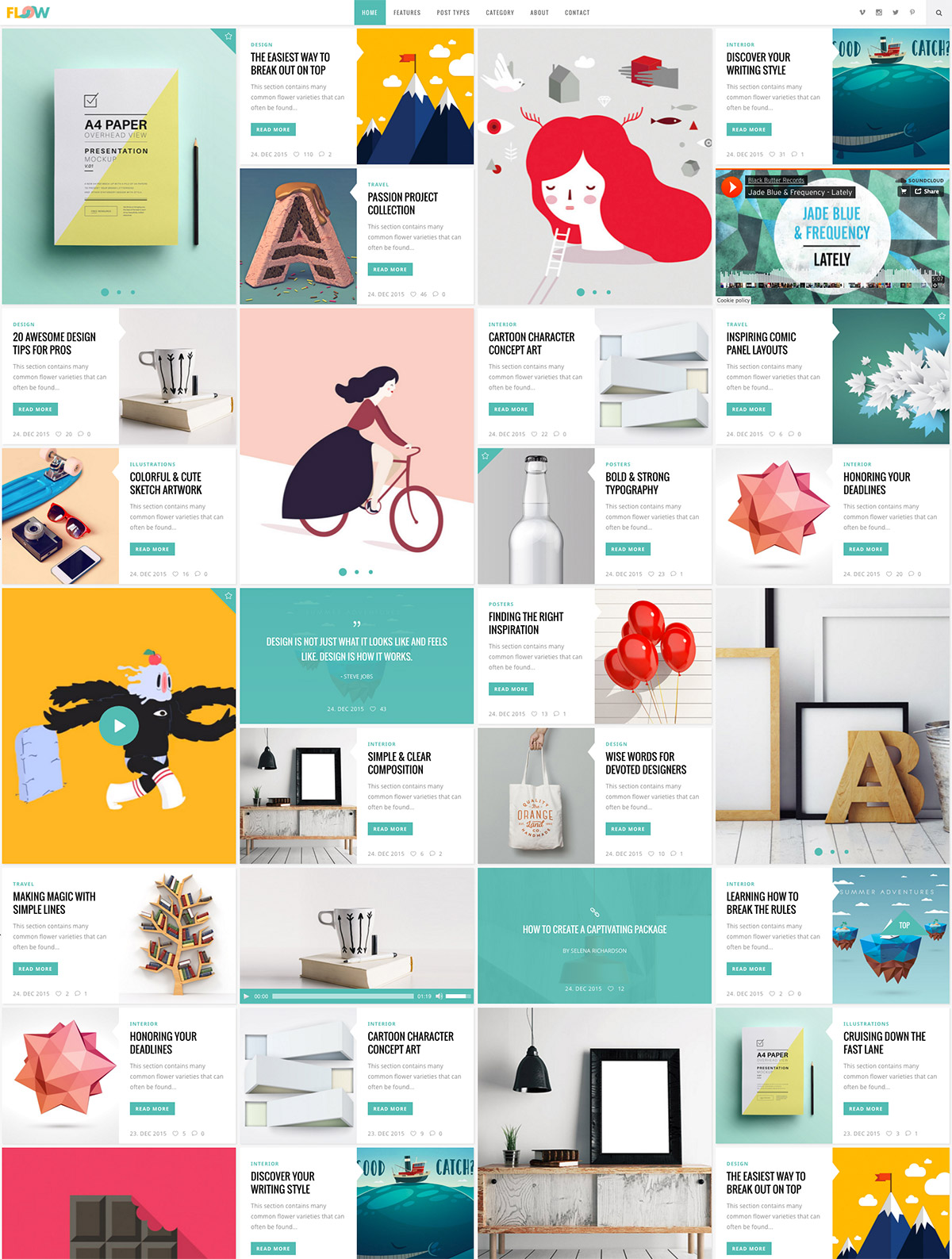 creative design theme