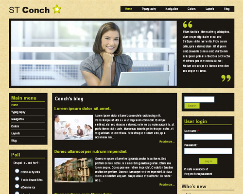 conch theme