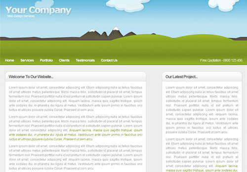 clean illustrative web design