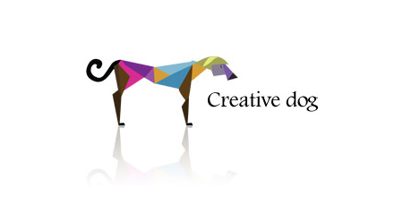 creative dog logo