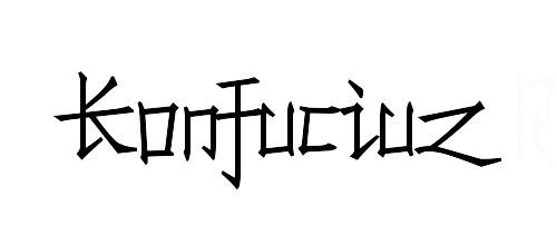 konfuciuz chinese fonts