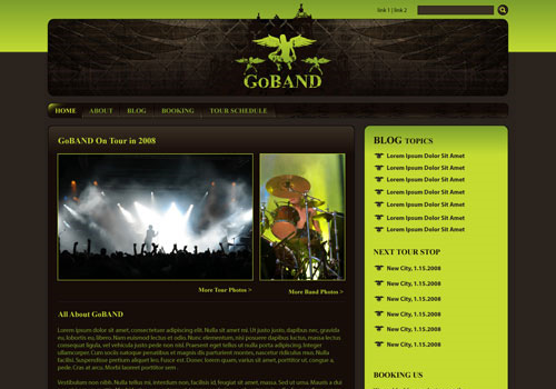create band site