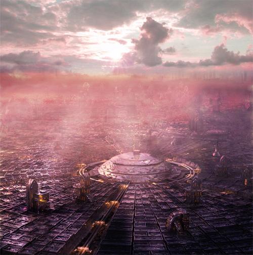 3d future city