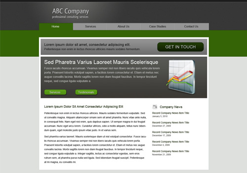 corporate psd to html