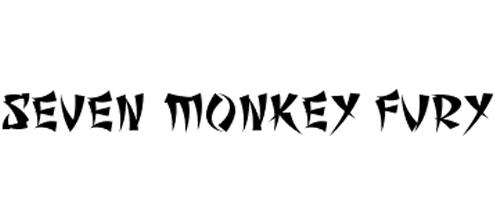 seven monkey font