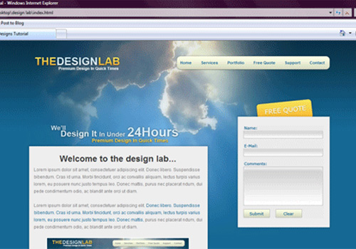 design lab psd conversion