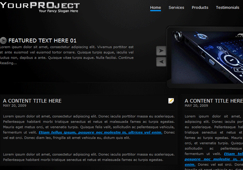 my project to html
