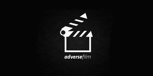 adverse film logo design