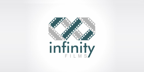 infinity film logo design
