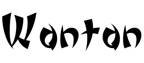 wonton font