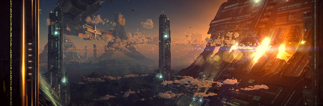 30 Futuristic Landscape Digital Illustrations