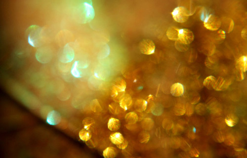 Gold bokeh texture
