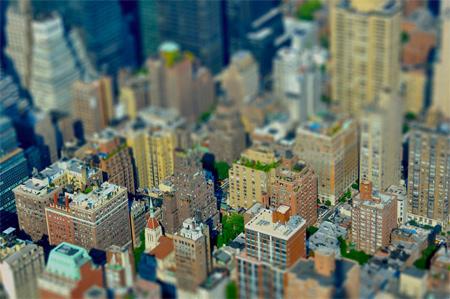 Manhattan Fake-Miniature Tilt Shift SIMCITY