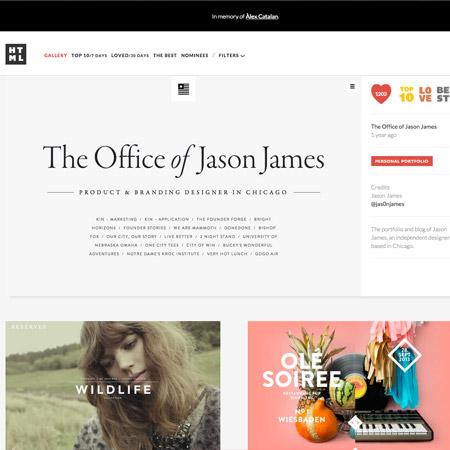 minimalist web gallery