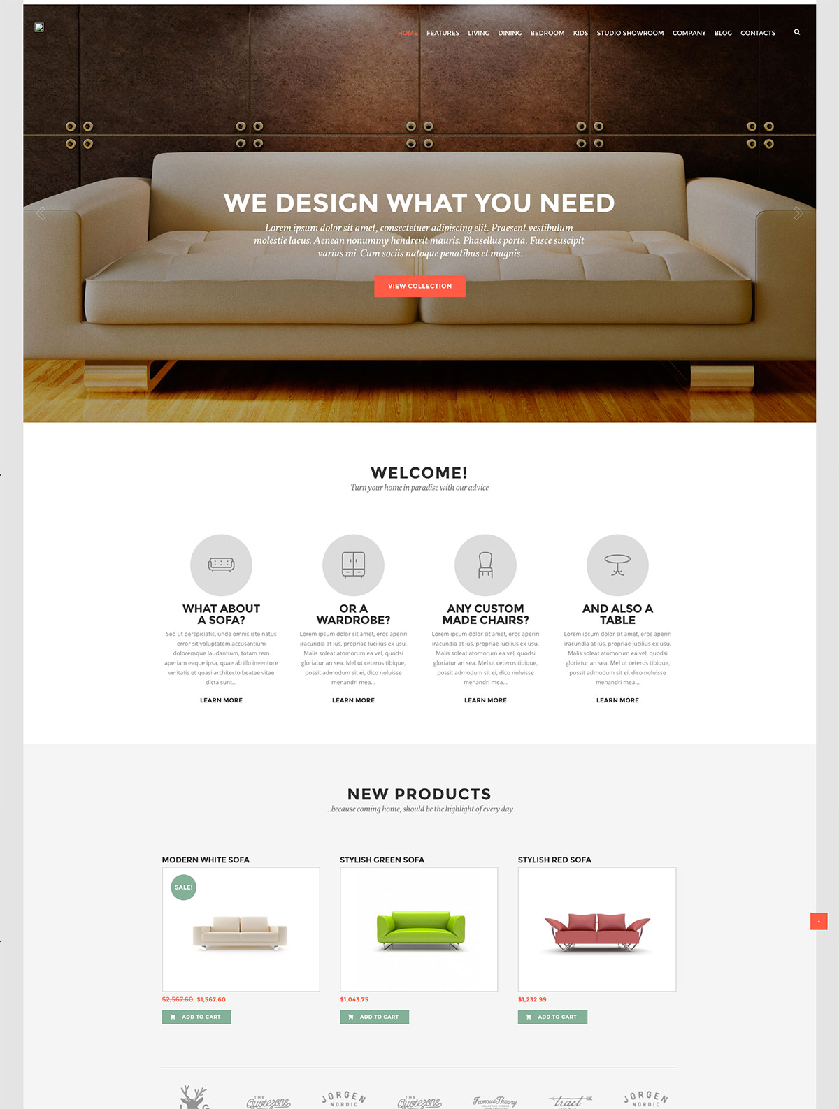 furniture design wordpress