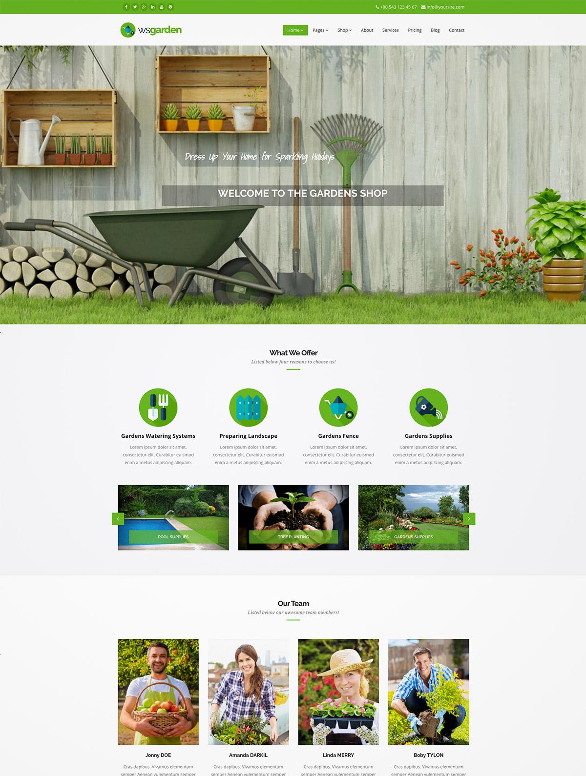 gardening drupal theme