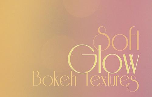 Soft glow bokeh texture