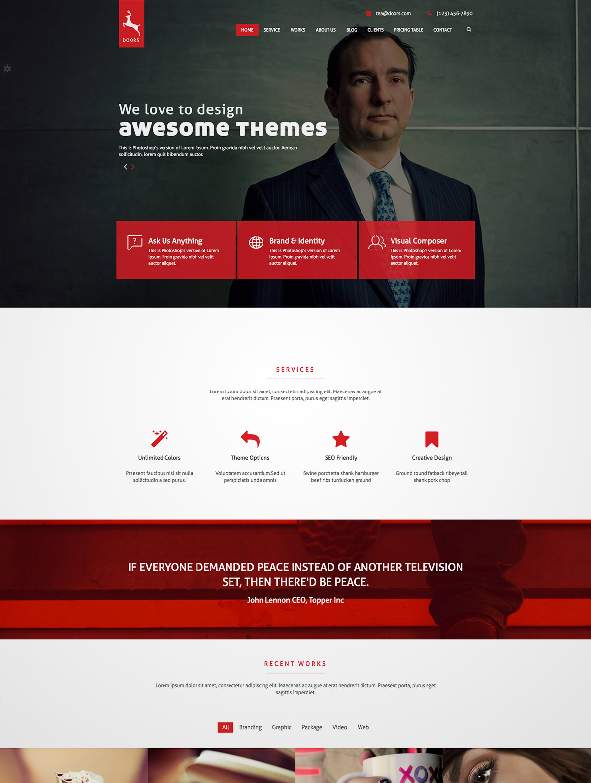 onepage corporate theme