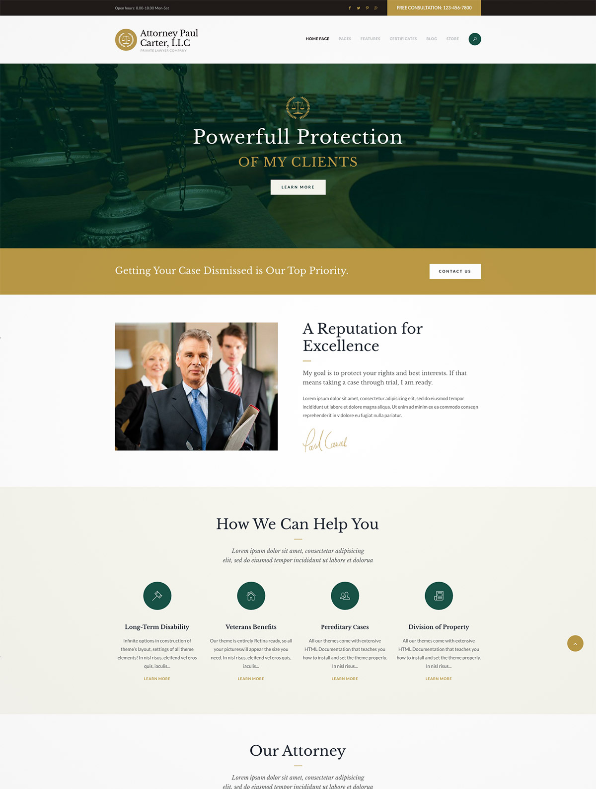 legal attorney wordpress