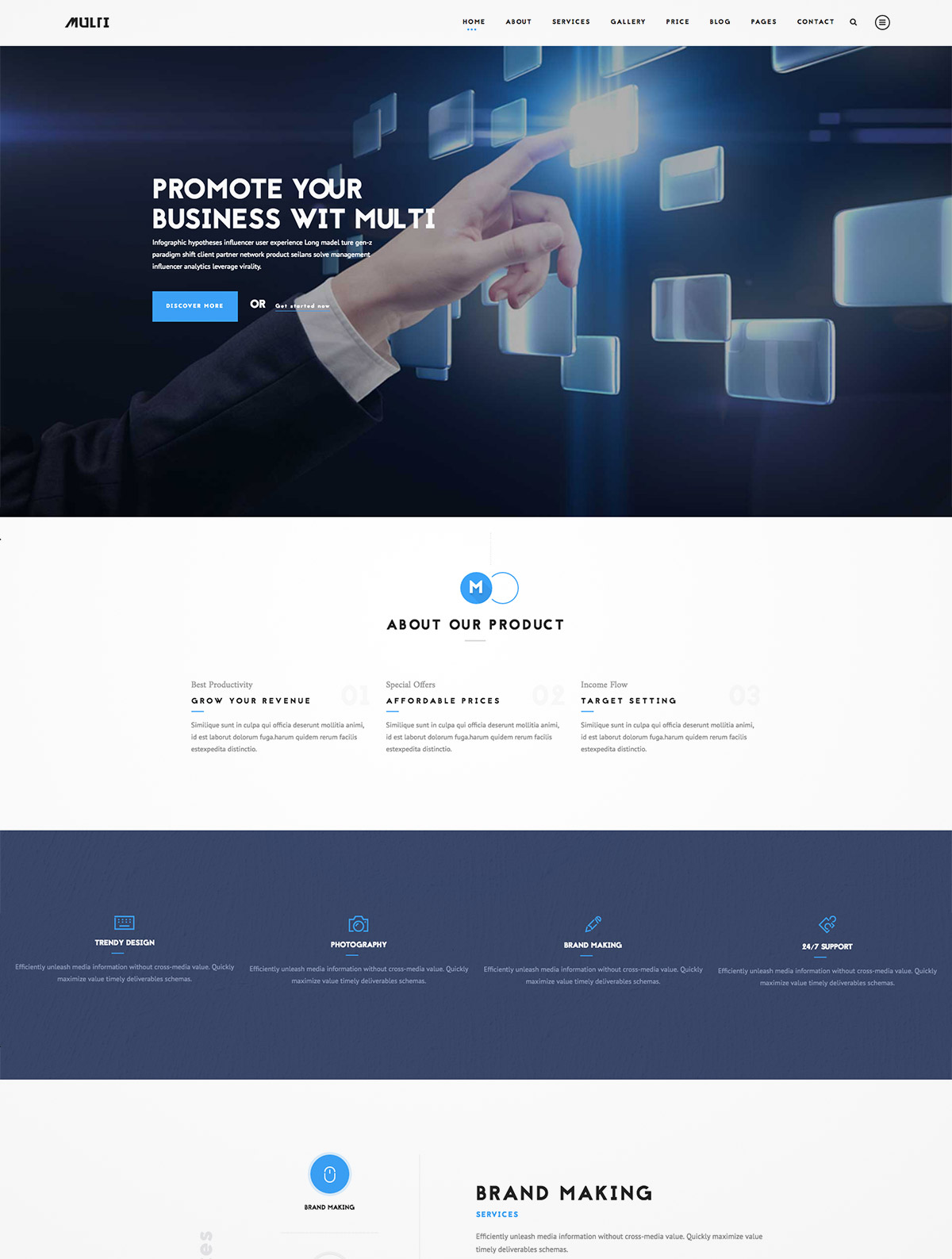 busness wordpress theme