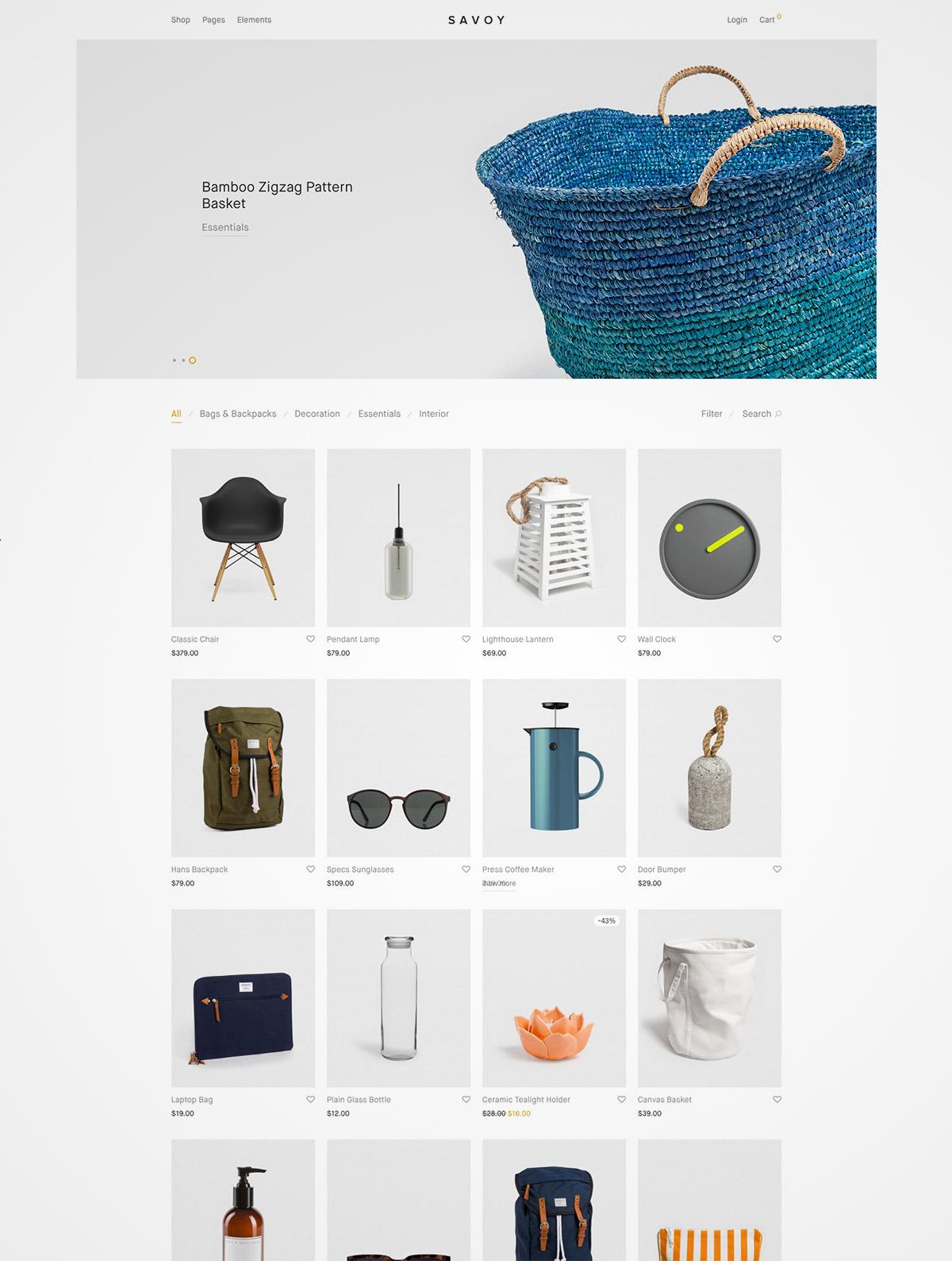 minimalist ajax theme