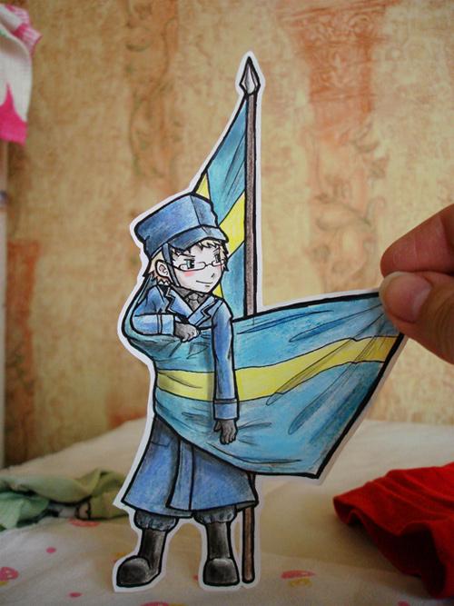sweden paper child