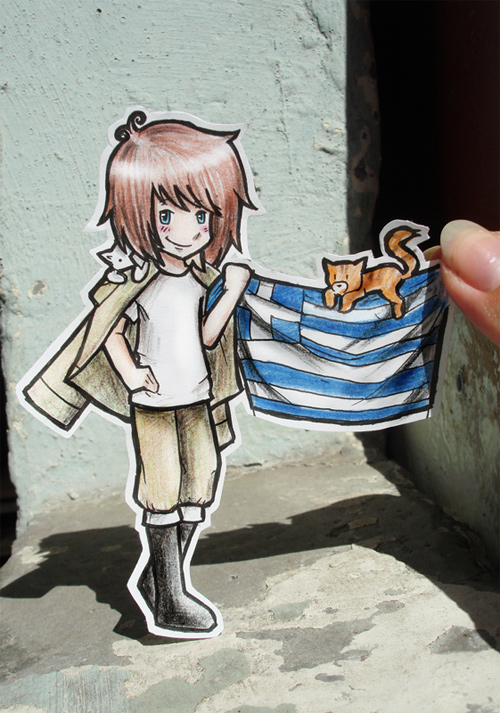 greece paper child