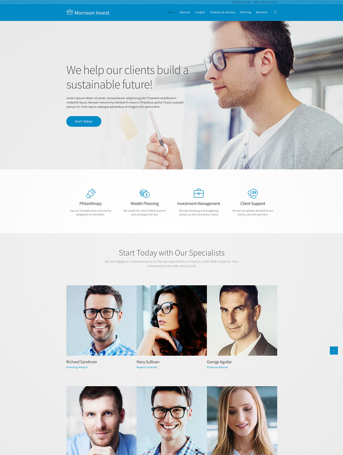 corporate theme minimal