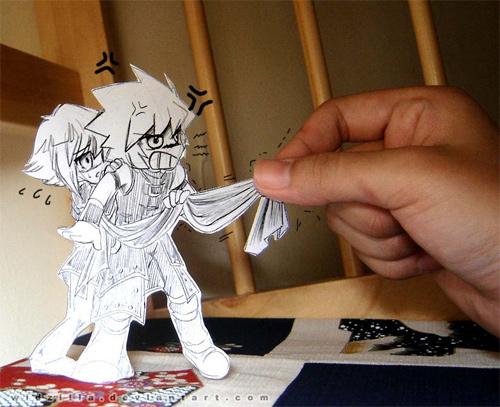 manga paper art