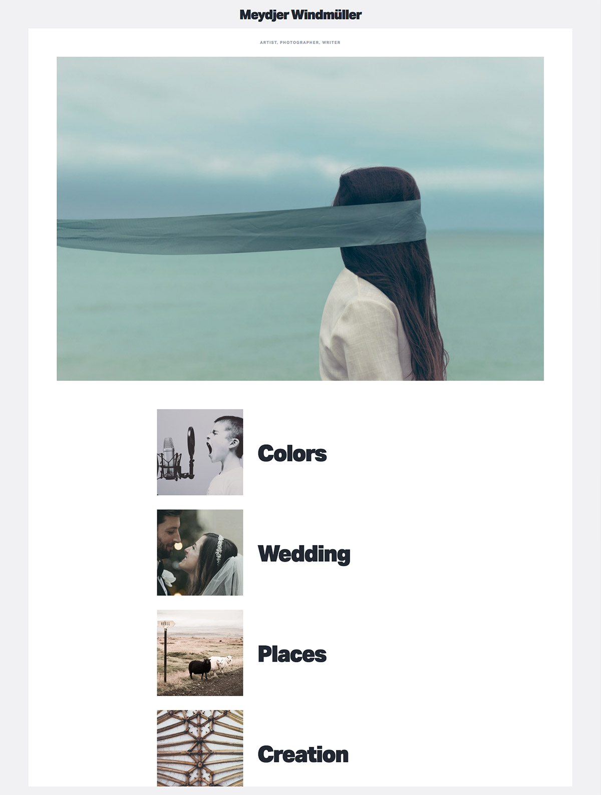 minimalist photography theme