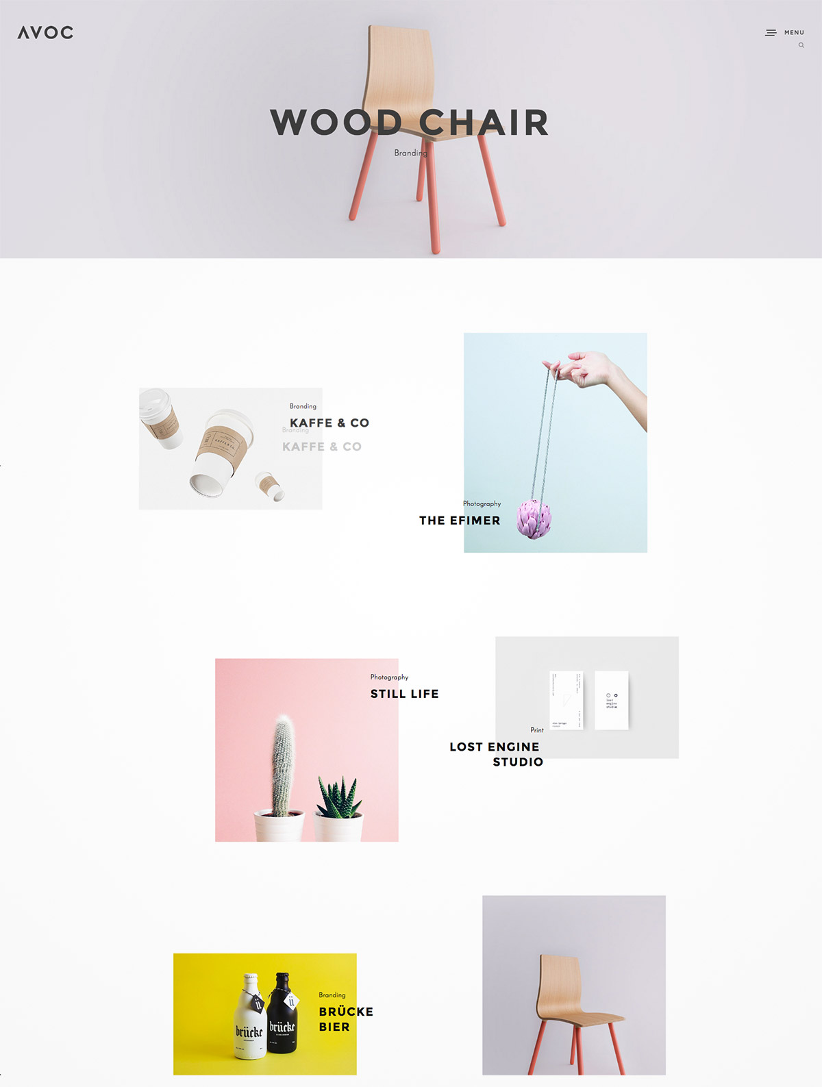 minimal portfolio theme