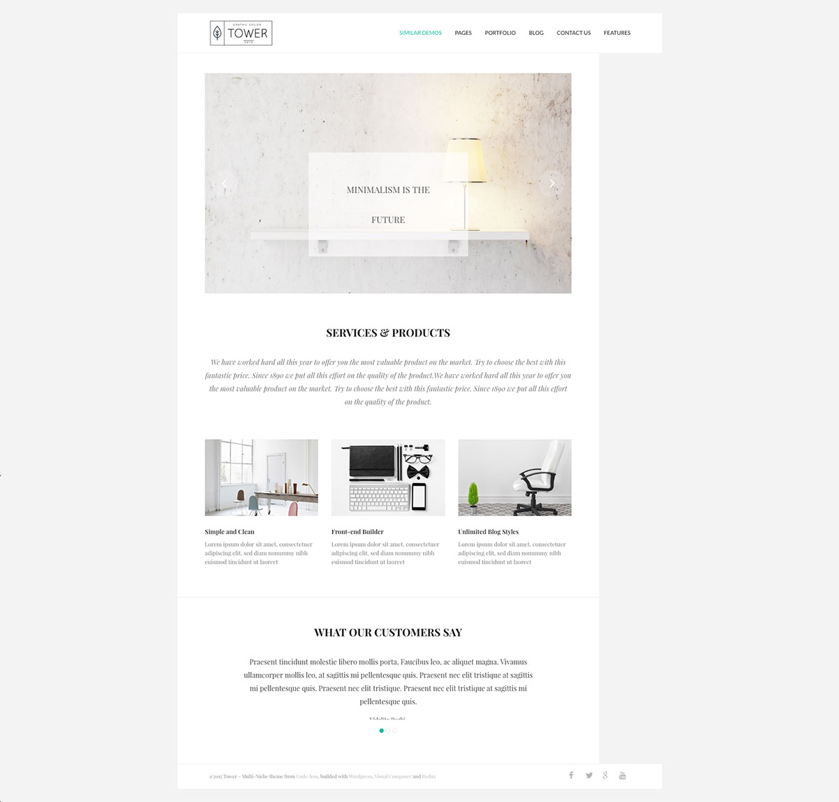 business minimal theme
