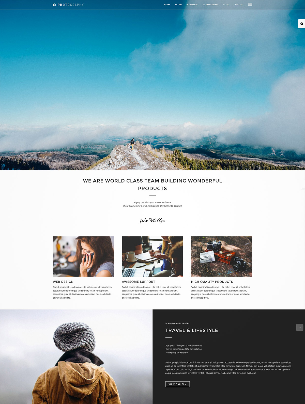 minimal photography wordpress