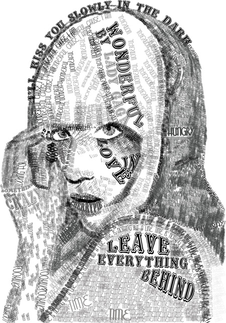 Lady Gaga Typography