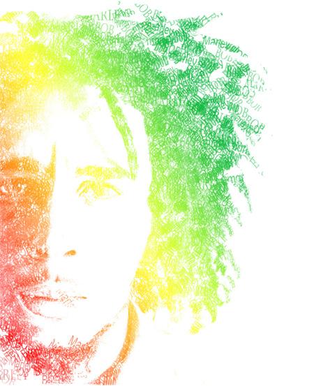 Bob Marley Typography