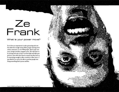 Ze Frank Layout in Type
