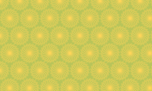 Yellow flower green patterns