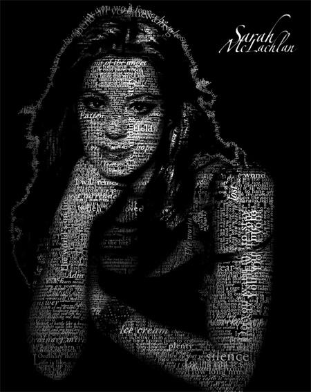 Sarah McLachlan Typo Portrait