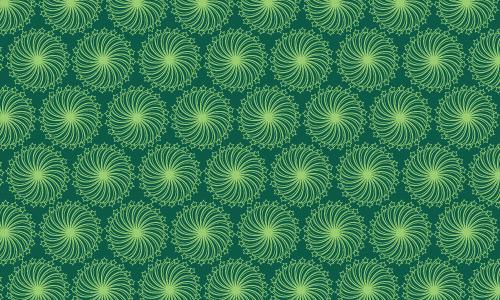 Circle green pattern