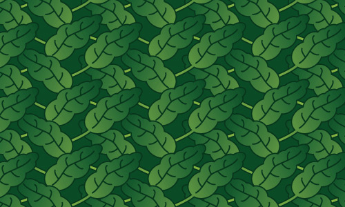 Cool leaves green pattern