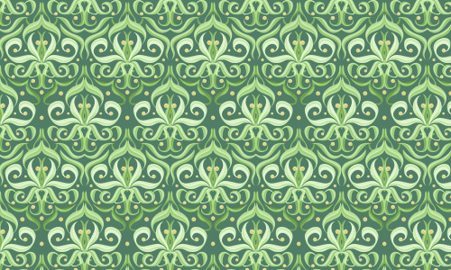 Fancy green pattern
