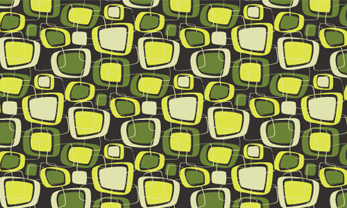 Retro green pattern