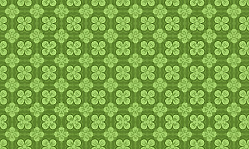 Neat clover green pattern