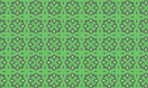 Nice shape green pattern